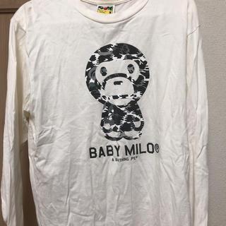 アベイシングエイプ(A BATHING APE)のAPE白ロンT(Tシャツ/カットソー(七分/長袖))