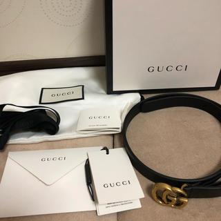 Gucci - GUCCI グッチ GG レザーベルト バックル付き ベルト幅2.0cm