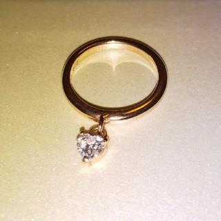 エテ(ete)のK10 ジルコニア ピンキーリング(リング(指輪))