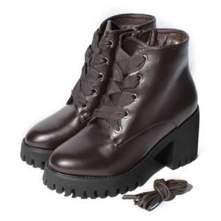 NICE CLAUP - 新品 定価7450円 ナイスクラップ ブーツ 茶色 S=22~22.5cm