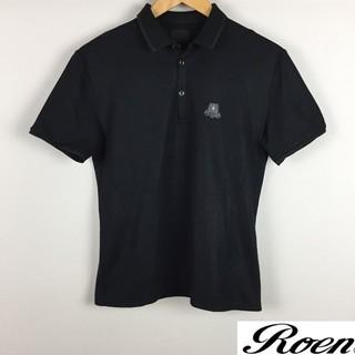 ロエン(Roen)の美品 ロエン×セマンティックデザイン 半袖ポロシャツ カットソー生地 ブラック(ポロシャツ)