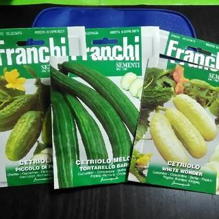 イタリア野菜の種 メロンキュウリ・ピクルス・白ミニキュウリ(野菜)