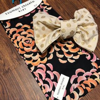 ツモリチサト(TSUMORI CHISATO)の新品未使用 ツモリチサト キッズ 浴衣 浴衣帯 120cm  2点セット(甚平/浴衣)
