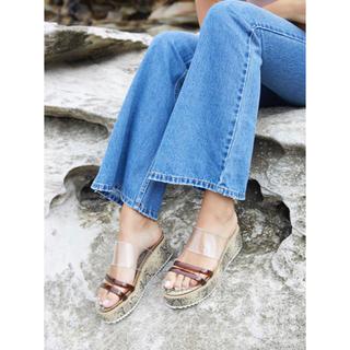 アリシアスタン(ALEXIA STAM)のClear Strap Platform Sandals Beige  (サンダル)