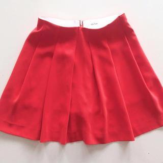 ミラオーウェン(Mila Owen)のMila Owen ミラオーウェン フレアー ショートパンツ 赤 0サイズ(ショートパンツ)