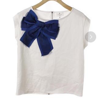ランバンオンブルー(LANVIN en Bleu)のランバンオンブルー   リボンTシャツ(Tシャツ(半袖/袖なし))
