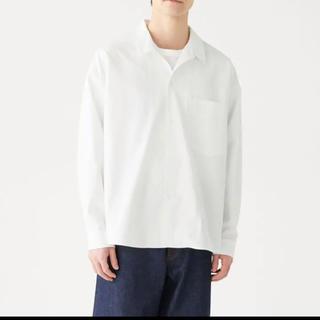 ムジルシリョウヒン(MUJI (無印良品))のmuji labo  ドロップショルダーシャツ 白 L〜XL(シャツ)