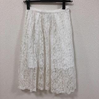 デイシー(deicy)のdeicy レーススカート ホワイト(ひざ丈スカート)
