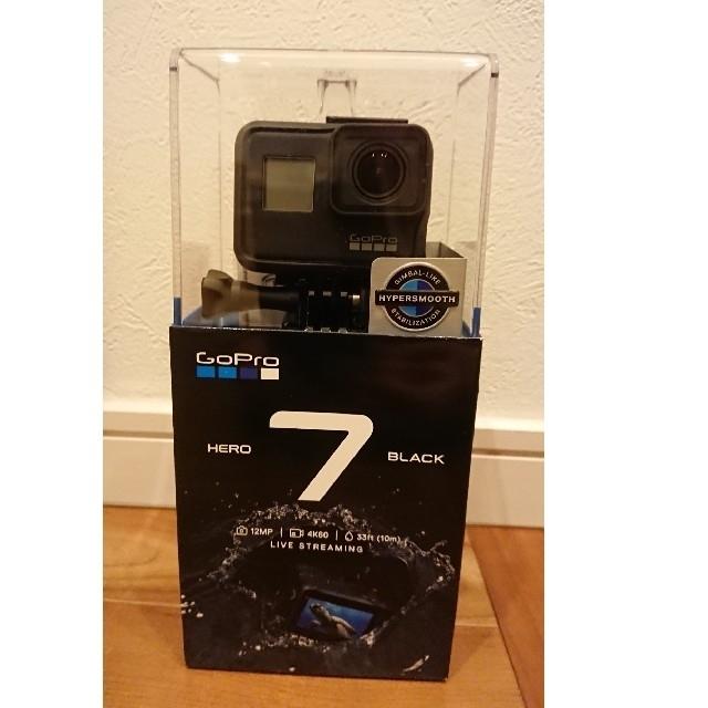 GoPro(ゴープロ)の新品未開封 CHDHX-701-FW Go Pro HERO7 Black スマホ/家電/カメラのカメラ(ビデオカメラ)の商品写真