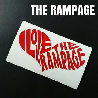 お薦め人気商品❗【I LOVE THE RAMPAGE】カッティングステッカー