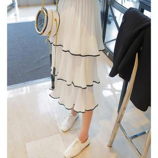 GOGOSING - 韓国♡プリーツホワイトスカート