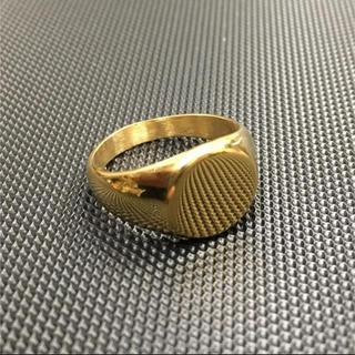 ハーフオーバルリング 鏡面仕上げ印台リング ゴールド(リング(指輪))
