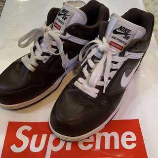 シュプリーム(Supreme)のSupreme Nike SB AF2 Low 茶色 28cm(スニーカー)