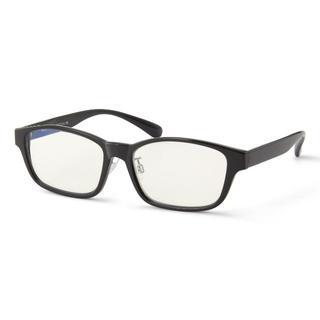 ムジルシリョウヒン(MUJI (無印良品))のMUJI 無印良品 UVカット ブルーライト スクエア サングラス メガネ 黒(サングラス/メガネ)