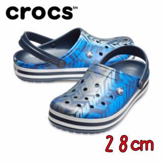 クロックス(crocs)の新品 28㎝ クロックス クロックバンド グラフィック 3.0 クロッグ(サンダル)