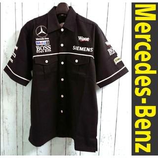 ビーエムダブリュー(BMW)のメルセデス・ベンツ  黒ワークシャツ Mercedes-Benz(シャツ)