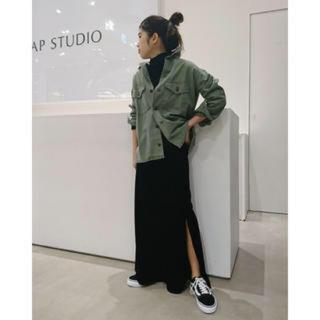 アパルトモンドゥーズィエムクラス(L'Appartement DEUXIEME CLASSE)のAP studio ミリタリーシャツ ジャケット カーキ ヴィンテージ(ミリタリージャケット)