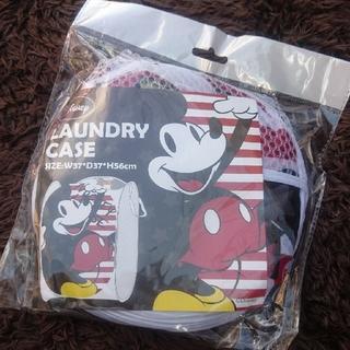 ミッキーマウス(ミッキーマウス)の【新品未使用】ミッキー ランドリーケース  洗濯物入れ ディズニー Disney(バスケット/かご)