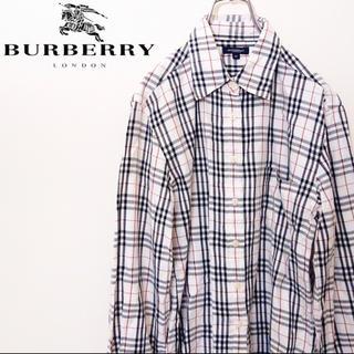 BURBERRY - フォロー割 バーバリーロンドン ノバチェックシャツ 超希少