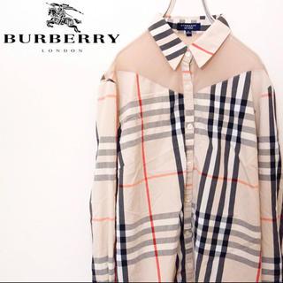 BURBERRY - フォロー割 美品 バーバリーロンドン ノバチェックシャツ 大判 イングランド製