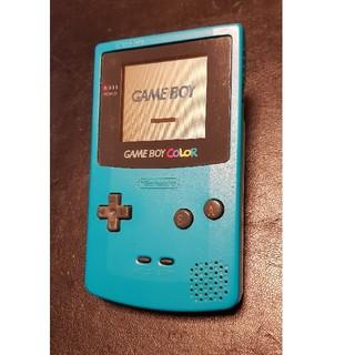 ゲームボーイ(ゲームボーイ)のゲームボーイカラー グリーン 本体(携帯用ゲーム本体)