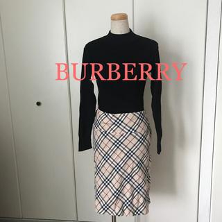 バーバリーブルーレーベル(BURBERRY BLUE LABEL)のバーバリー ひざ丈スカート(ひざ丈スカート)