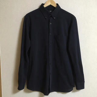 UNIQLO - ユニクロ スリムフィット シャツ 紺