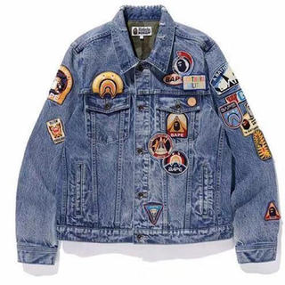 A BATHING APE - BAPE® CRAZY PATCH DENIM JACKET