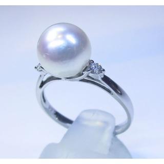 最終価格※PTあこや真珠8.8ミリダイヤモンド付きリング(指輪)(リング(指輪))