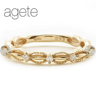 agete - ■期間限定出品■【agete】K10 ダイヤピンキーリング/ドレスリング