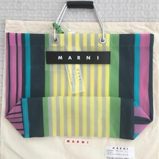 マルニ(Marni)の新品未使用 MARNI マルニフラワーカフェ 限定 ストライプ トートバック(トートバッグ)