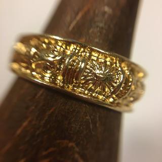 古着屋購入 ゴールド加工メッキ リング 10号 (リング(指輪))