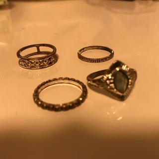 シルバーリング 5個セット(リング(指輪))