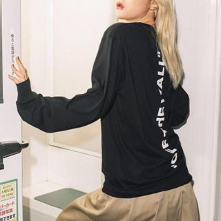 ヴァンズ(VANS)の新品 別注 限定 VANS ヴァンズ トップス Tシャツ ブラック L(Tシャツ(長袖/七分))