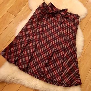 バーバリーブルーレーベル(BURBERRY BLUE LABEL)のバーバリー ブルーレーベル チェック スカート フレアスカート (ひざ丈スカート)