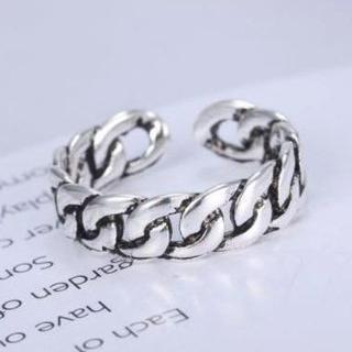 喜平チェーン 風 デザイン の リング 指輪 フリーサイズ メンズ レディース (リング(指輪))