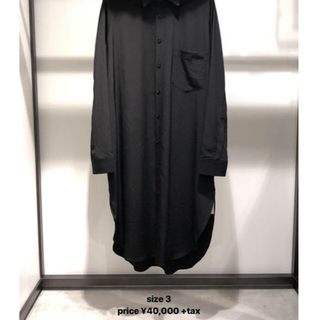 Yohji Yamamoto - Y ビッグシルエット 黒シャツ