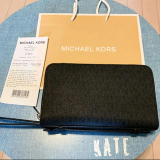 マイケルコース(Michael Kors)のマイケルコース  新品! ダブルジップ  長財布 オーガナイザー メンズ 01(長財布)