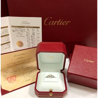 カルティエ(Cartier)の値下げ【新品未使用】カルティエ 1895 ソリテール プラチナ0.34carat(リング(指輪))