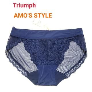 Triumph - トリンプ AMO'S STYLE レースがキレイなショーツM ネイビー