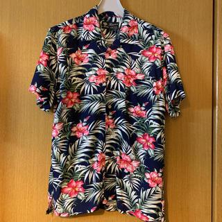 しまむら - 新品 しまむら 花柄 フラワー リーフ柄 アロハシャツ 紳士 リゾート L