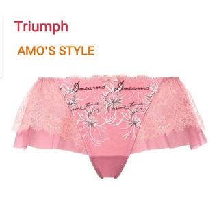 Triumph - Triumph AMO'S STYLE 可愛いレースのフレアショーツ M ピンク