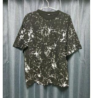 ZARA - ペイント ペンキ Tシャツ 半袖 総柄 モード ストリート トップス お洒落