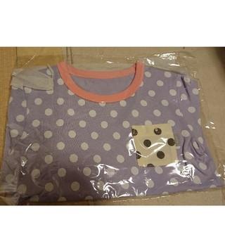 ベルメゾン - 【新品】名札ホール付き 半袖Tシャツ ラベンダー 水玉 120㎝ ベルメゾン