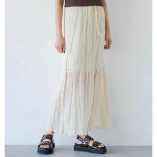 Kastane - 新品タグ付き ワッシャーシフォン無地スカート