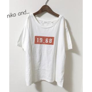 ニコアンド(niko and...)のゴシックロゴプリントT(Tシャツ(半袖/袖なし))
