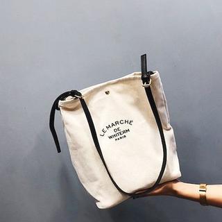 カジュアル キャンバスバッグ キャンバス 帆布 生地 ショルダーバッグ (トートバッグ)