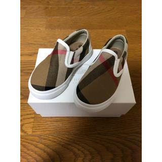 BURBERRY - 新品未使用BURBERRYCHILDRENバーバリーチルドレン24子供靴15cm