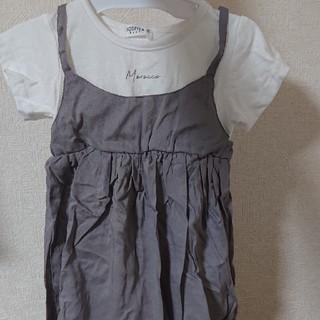 フタフタ(futafuta)の子供服 女の子 ワンピース  ロゴ 90 95 リネン レーヨン(ワンピース)