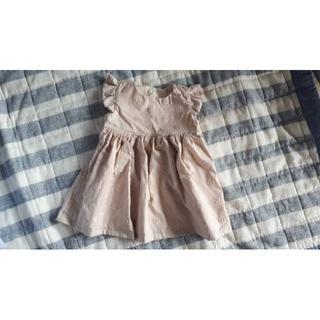サイズ色々❗アナベルの刺繍・肩フリルワンピース☺(ワンピース)